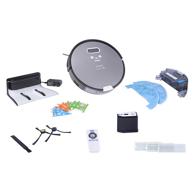 Contenu de boite du robot aspirateur et laveur AMIBOT Animal Premium H2O